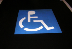 Picture: wheelchair accessibility symbol